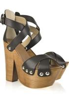 Sandale cu talpa de lemn